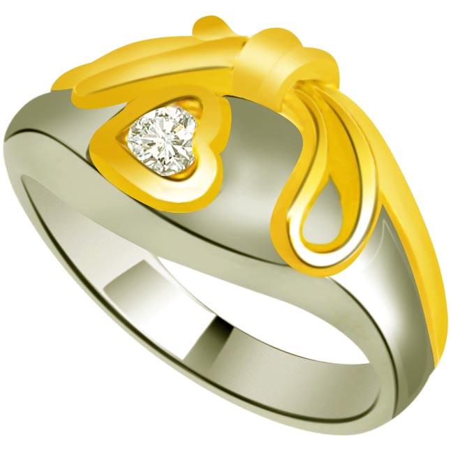 Diamond Heart Shape Gold rings SDR834