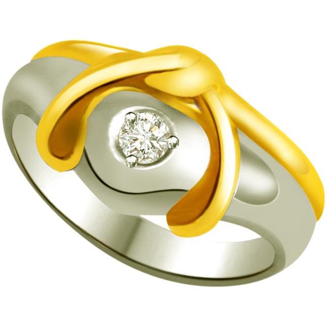 Diamond Heart Shape Gold rings SDR836