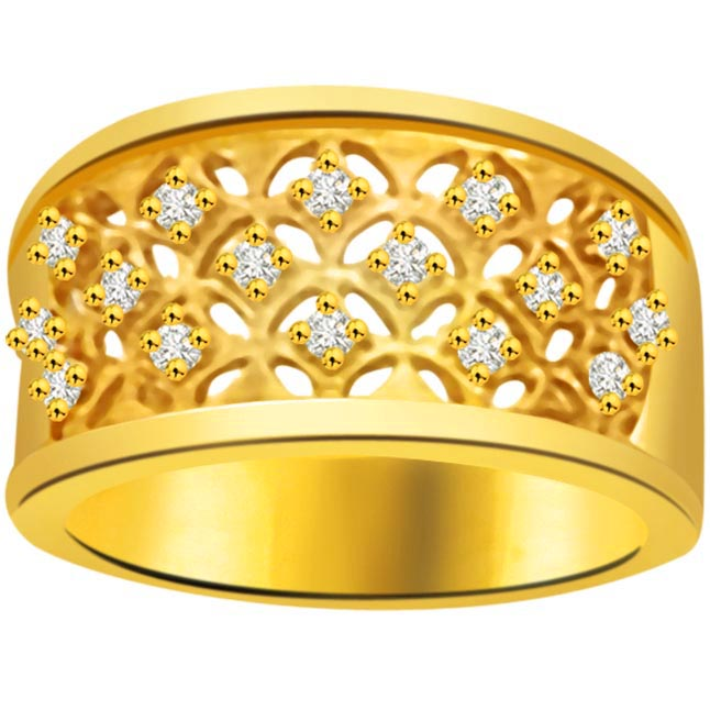 Pretty Diamond Gold rings SDR840
