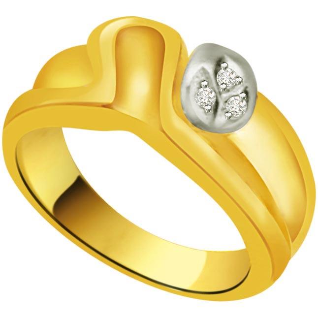 Shimmer Diamond Gold rings SDR842 -3 Diamond rings