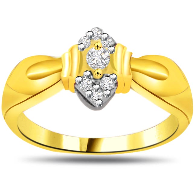 Shimmer Diamond Gold rings SDR847
