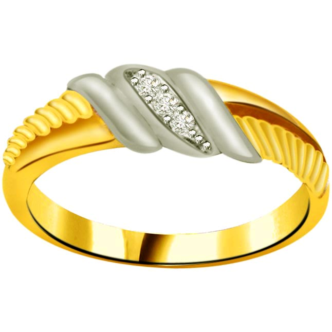 Classic Diamond Gold rings SDR851 -3 Diamond rings