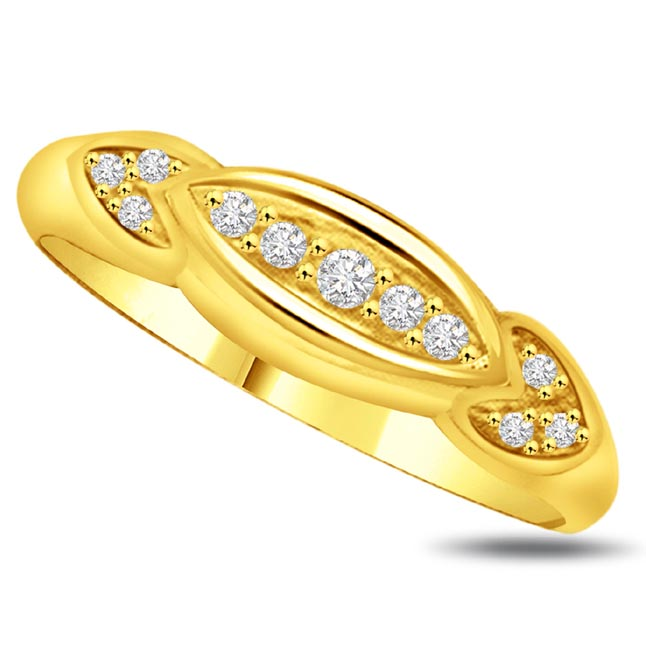Pretty Diamond Gold rings SDR854