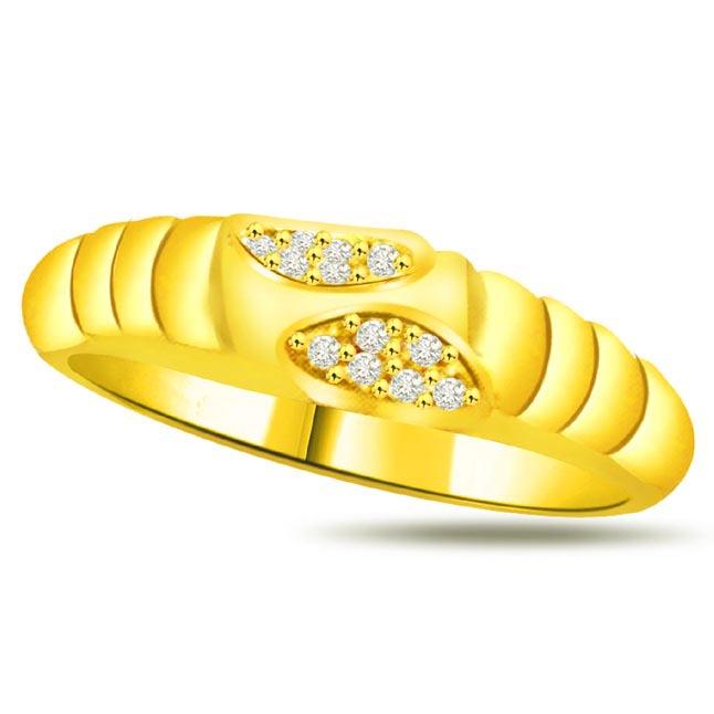 Shimmer Diamond Gold rings SDR855