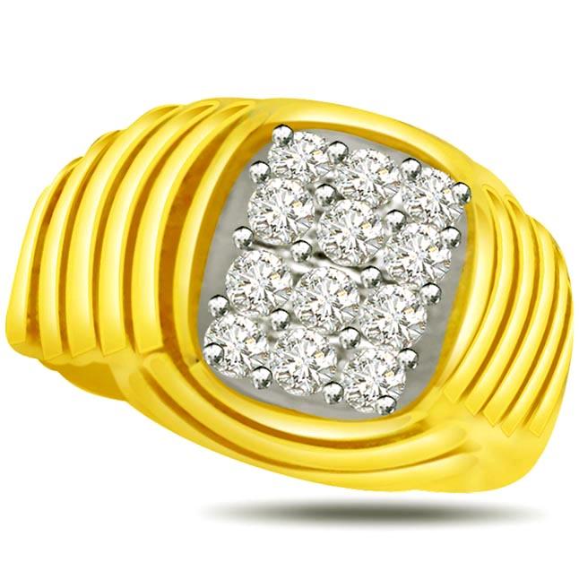 Elegant Diamond Gold rings SDR856 -White Yellow Gold rings