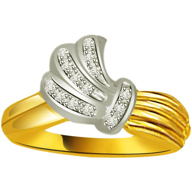 Elegant Diamond Gold rings SDR860 -White Yellow Gold rings
