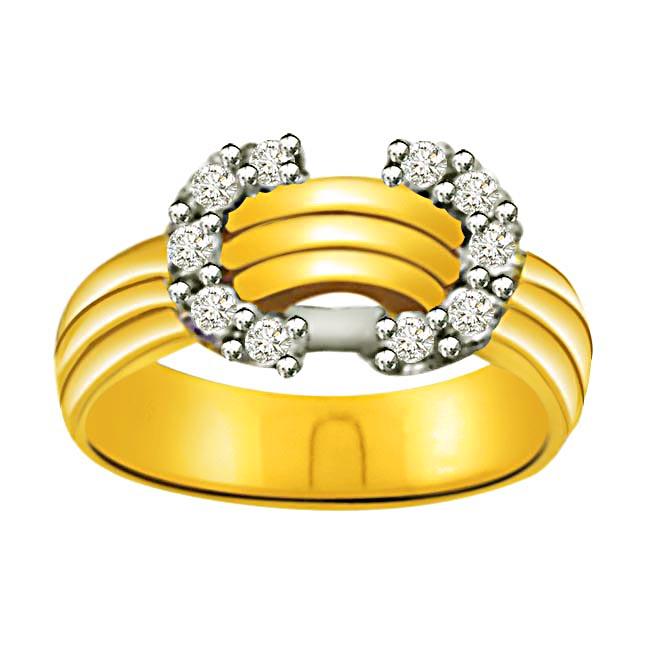 Elegant Diamond Gold rings SDR862 -White Yellow Gold rings