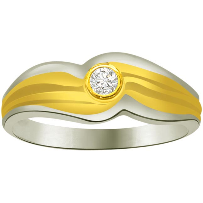 Solitaire Diamond Two -Tone rings SDR867