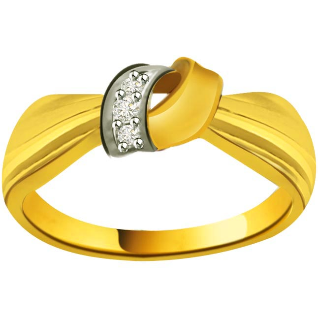 Elegant Diamond Gold rings SDR868 -White Yellow Gold rings