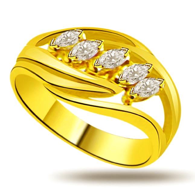 Shimmer Diamond Gold rings SDR869