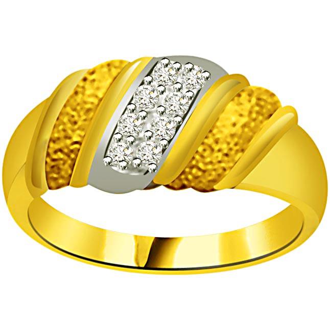 Elegant Diamond Gold rings SDR873 -White Yellow Gold rings
