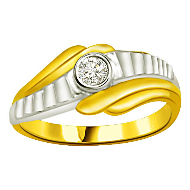 Solitaire Diamond Two -Tone rings SDR874