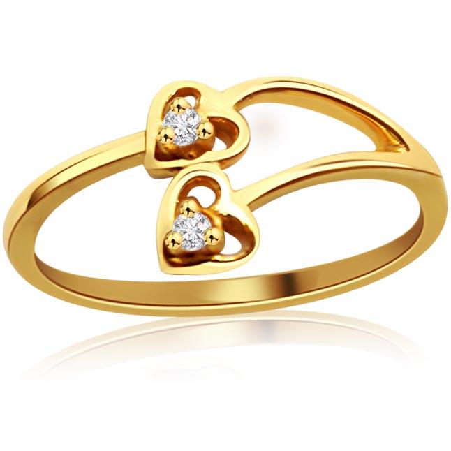 Classic Creation -Diamond Twin rings