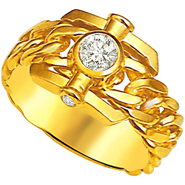 Trendy Diamond Gold rings SDR881