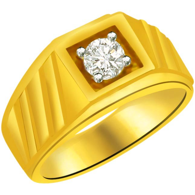 Solitaire Diamond Men's rings SDR882 -Solitaire rings