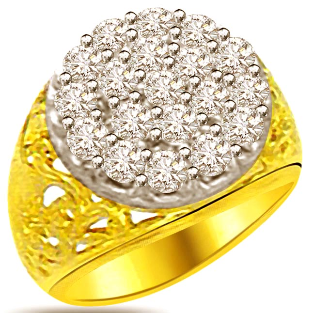 Trendy Diamond Gold rings SDR886
