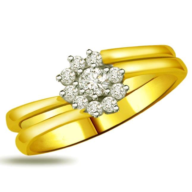 Flower Shape Diamond rings SDR887