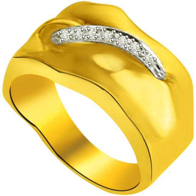 Classic Diamond Gold rings SDR894 -White Yellow Gold rings