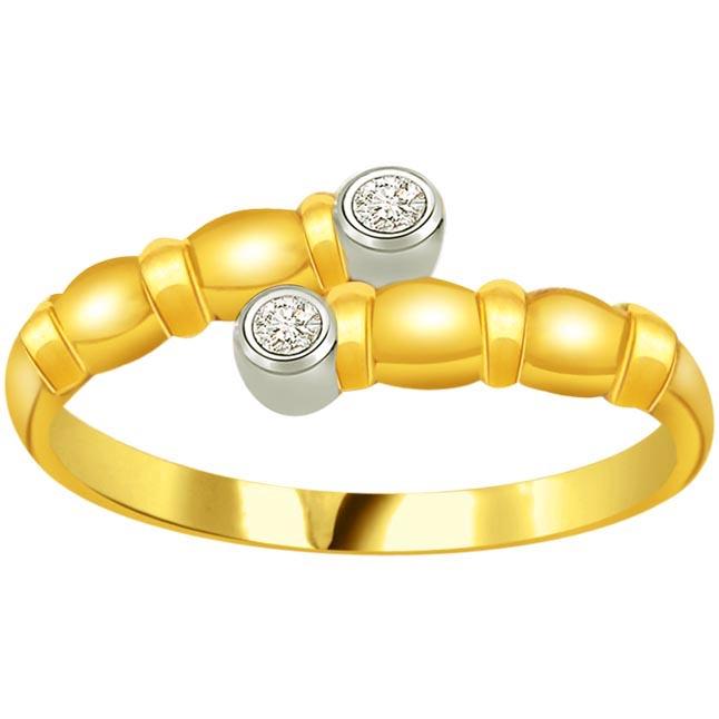 Shimmer Diamond Gold rings SDR895