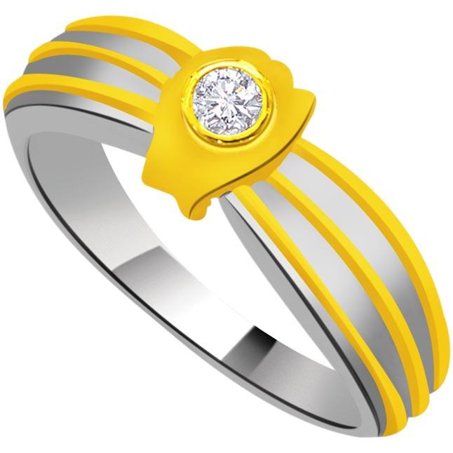 Trendy Diamond Gold rings SDR897