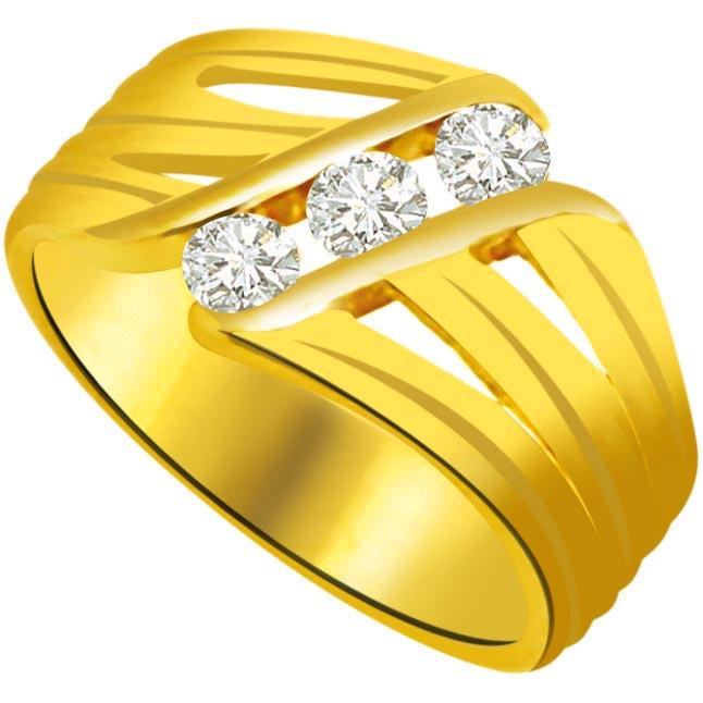 Classic Diamond Gold rings SDR899 -3 Diamond rings