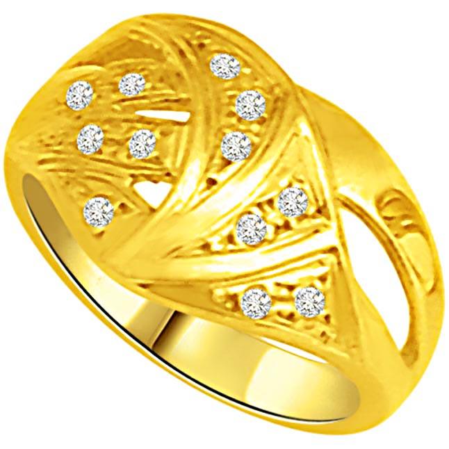 Classic Diamond Gold rings SDR900