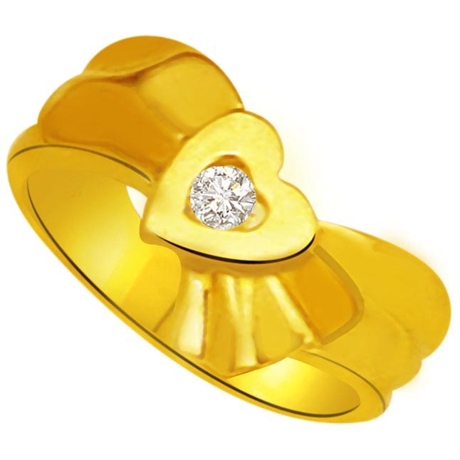 Diamond Heart Gold rings SDR901