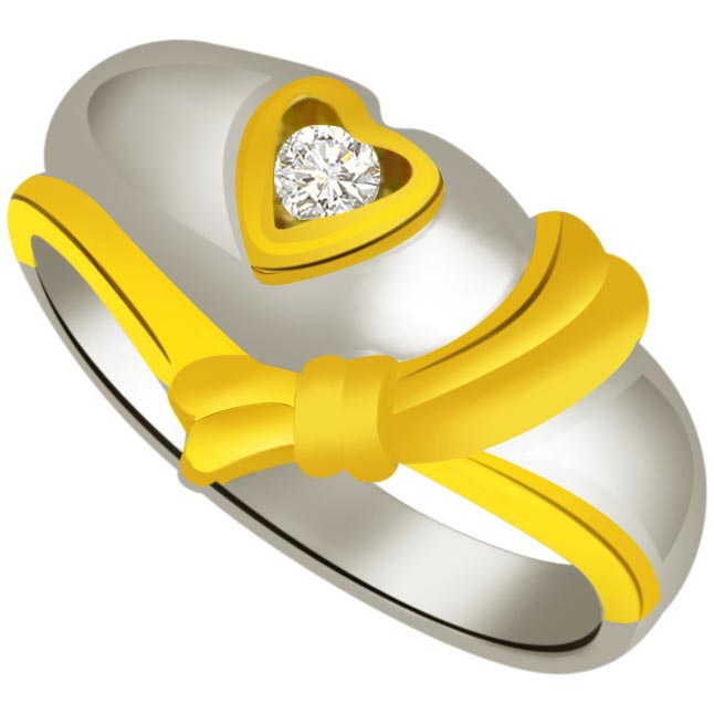 Diamond Heart Gold rings SDR902
