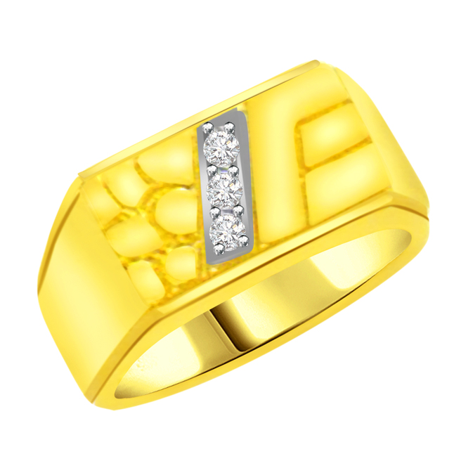 0.09 cts Designer Men's rings