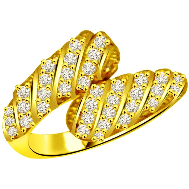 Classic Diamond Gold rings SDR910 -Yellow Gold Eternity rings