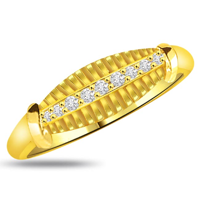 Shimmer Diamond Gold rings SDR911