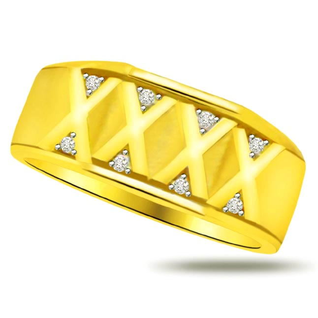 Shimmer Diamond Gold rings SDR913