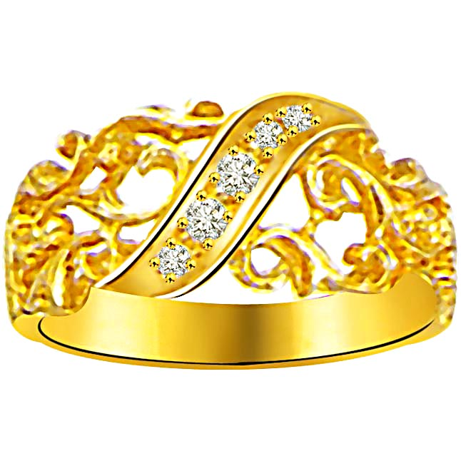 Pretty Diamond Gold rings SDR915