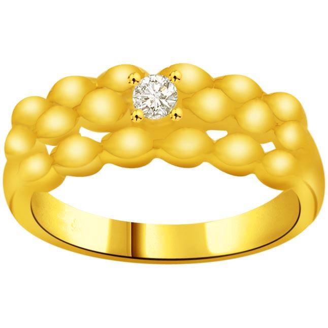 Trendy Diamond Gold rings SDR921 -18k Engagement rings