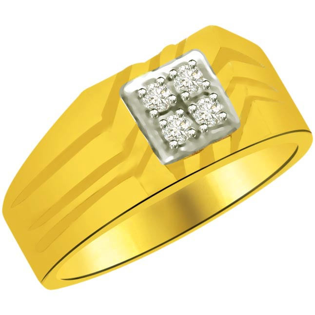0.16 cts Classic Diamond Gold rings