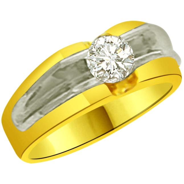 Solitaire Diamond Tow -Tone rings SDR927