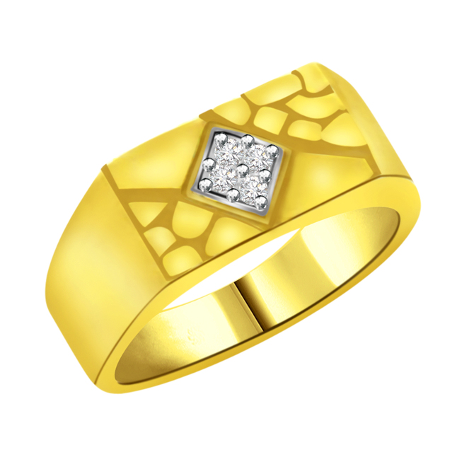 0.10 cts Diamond Designer Men's rings