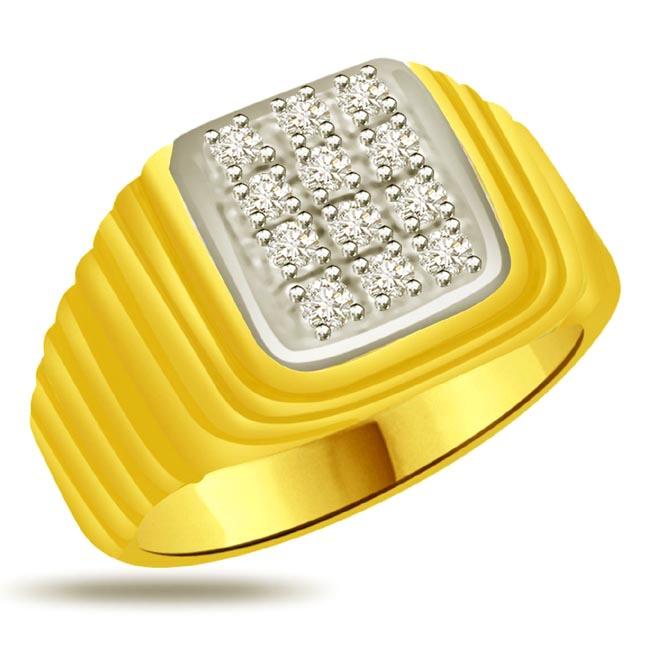 Shimmer Diamond Gold rings