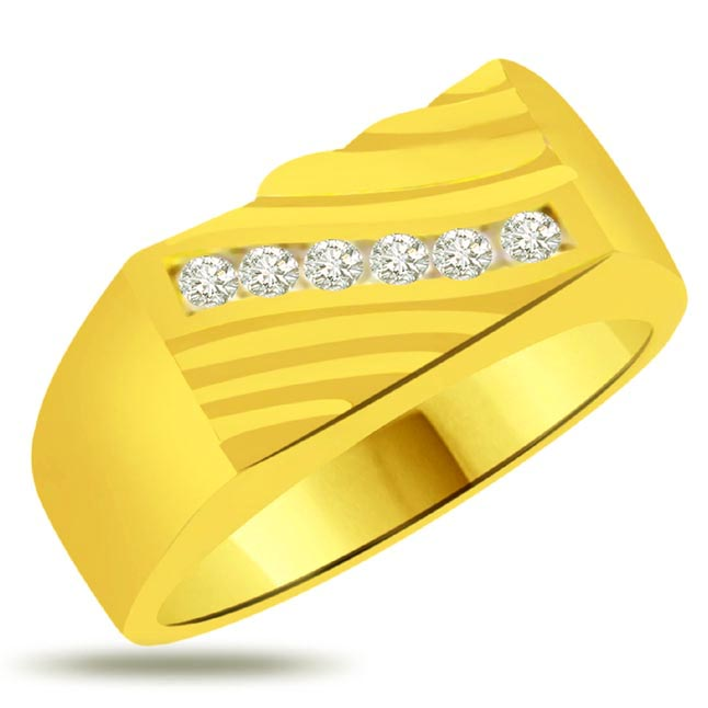Pretty Diamond Gold rings SDR930