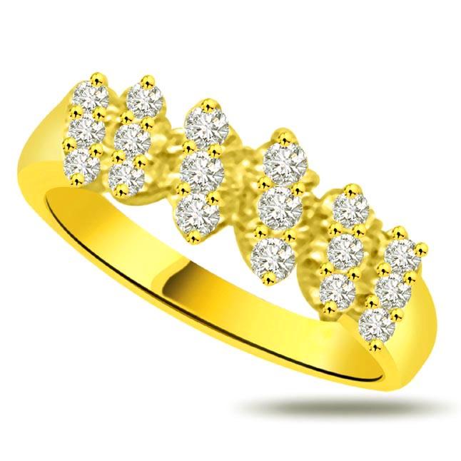 Shimmer Diamond Gold rings SDR932