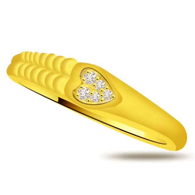 Diamond Heart Gold rings SDR933