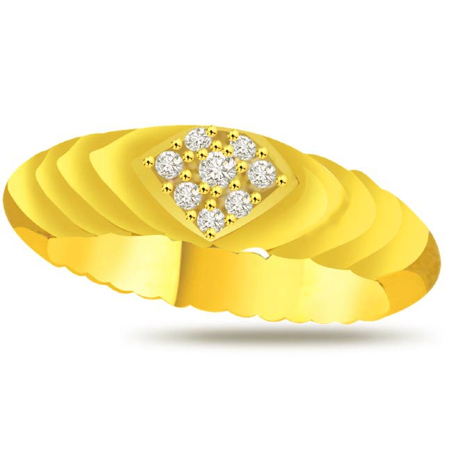 Diamond Heart Gold rings SDR934