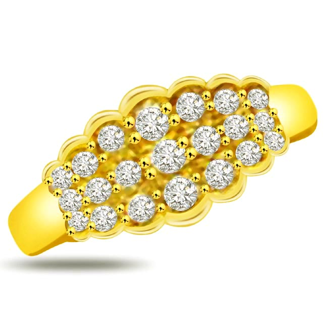 Trendy Diamond Gold rings SDR936