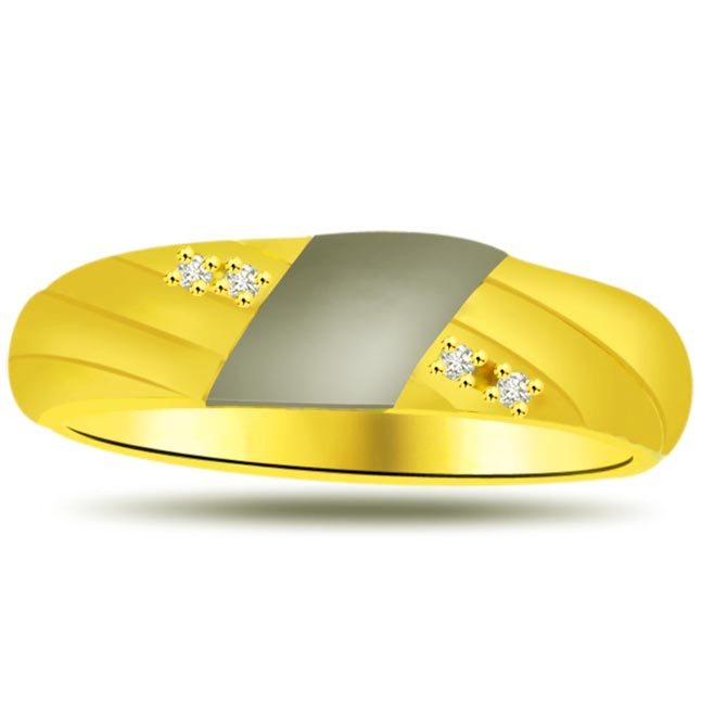 Two -Tone Diamond Gold rings SDR937