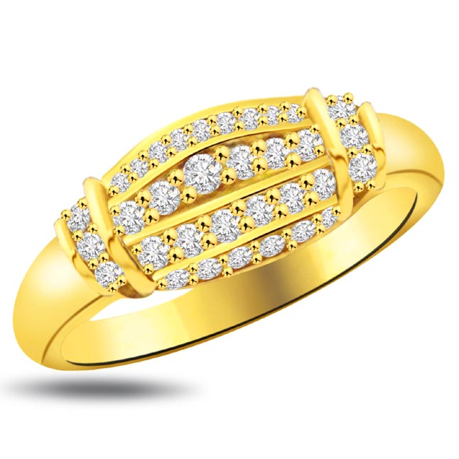 Shimmer Diamond Gold rings SDR938 -Yellow Gold Eternity rings