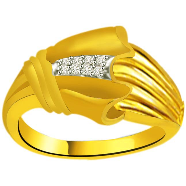 Trendy Diamond Gold rings SDR940