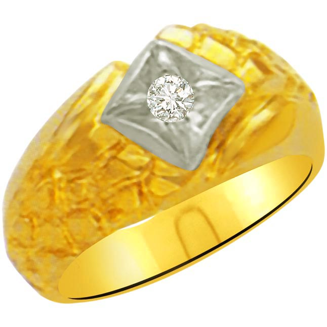 0.10 cts Two Tone Solitaire rings -Two Tone Solitaire