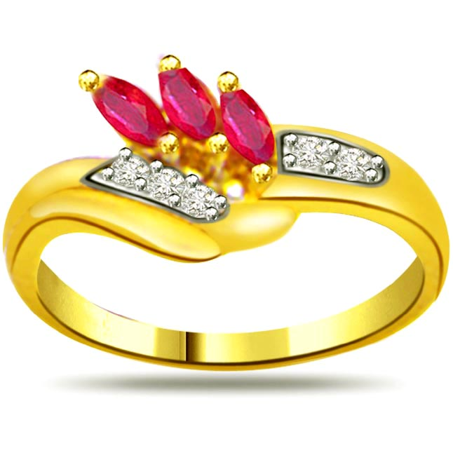 Marquise Ruby & Diamond rings SDR963