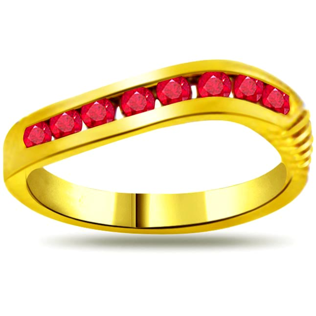 0.25ct Ruby 18kt Gold rings SDR967