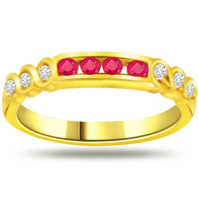 Diamond & Ruby Gold rings SDR968